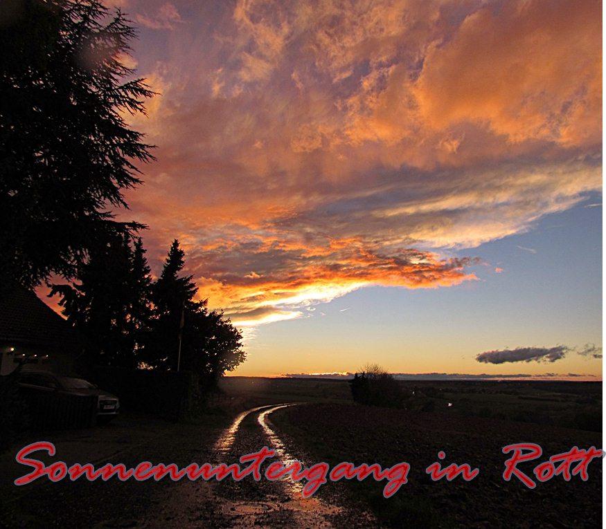 Sonnenuntergang in Rott