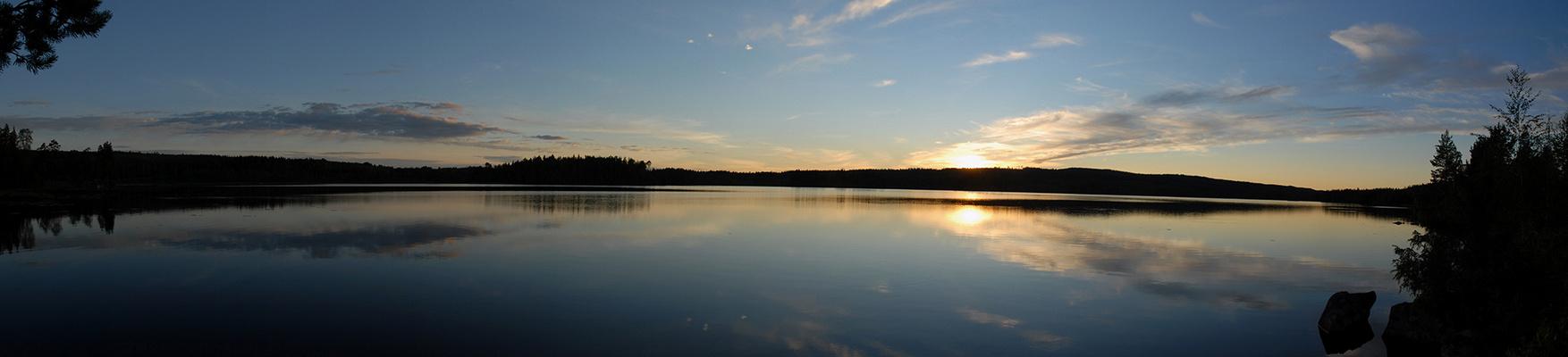 Sonnenuntergang in Säfsen (Frederiksberg Schweden)