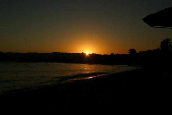 Sonnenuntergang in Safaga