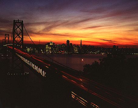 Sonnenuntergang in San Fran.