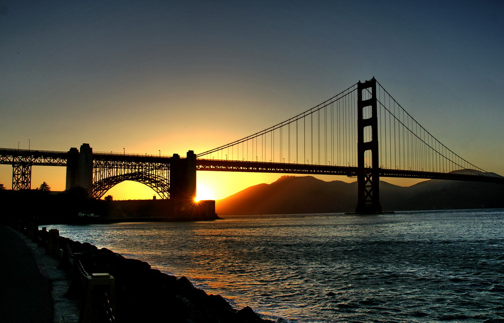 sonnenuntergang in san francisco foto bild landschaft naturlandschaft bei nacht natur. Black Bedroom Furniture Sets. Home Design Ideas