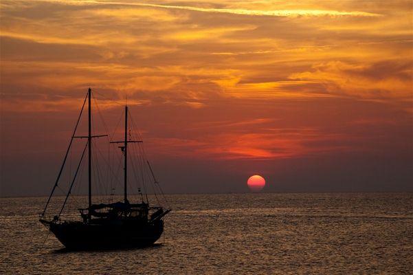 Sonnenuntergang in Sant Antoni auf Ibiza 2010