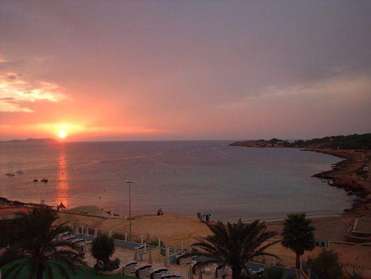 Sonnenuntergang in Sant Antoni / Eivissa