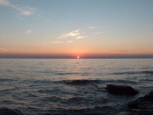 Sonnenuntergang in Savudrija