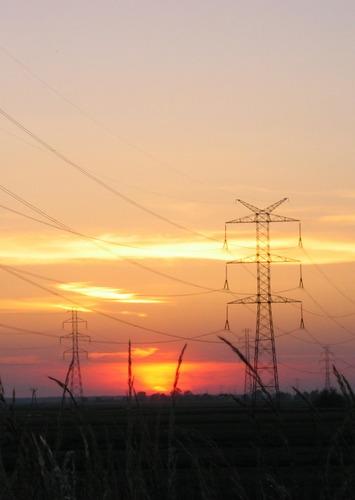 Sonnenuntergang in Schlesien