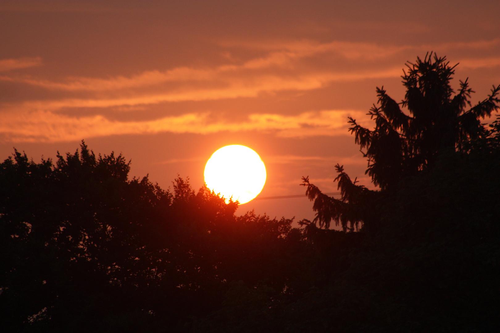 Sonnenuntergang in Schnelsen