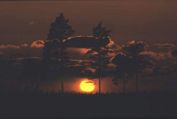 Sonnenuntergang in Schweden