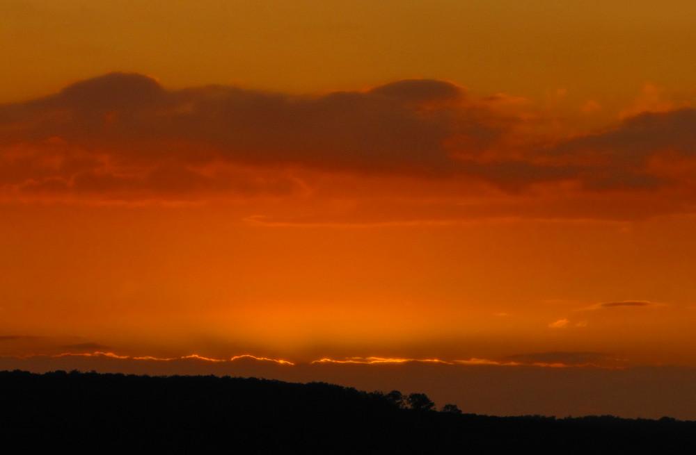Sonnenuntergang in Seesen
