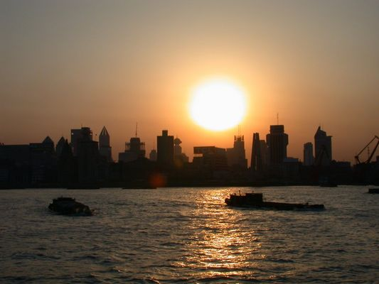Sonnenuntergang in Shanghai