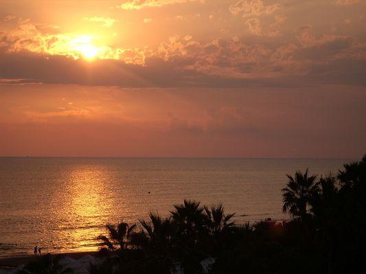 Sonnenuntergang in Side