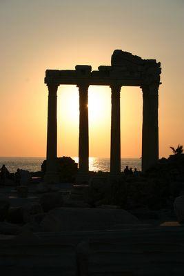 Sonnenuntergang in Side (Türkei)