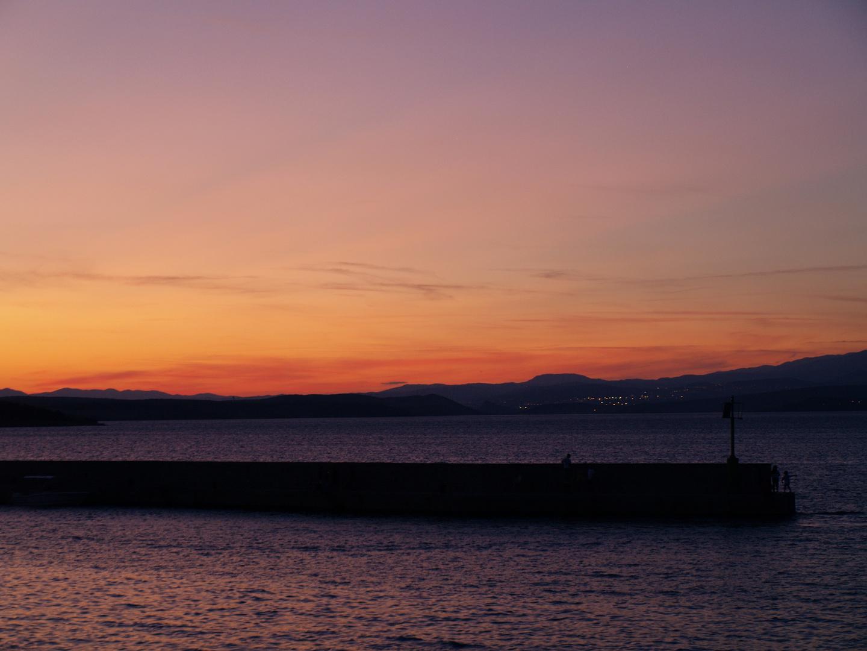 Sonnenuntergang in Silo auf Krk