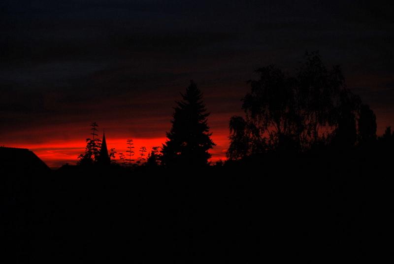 Sonnenuntergang in Solingen 06.09.2012