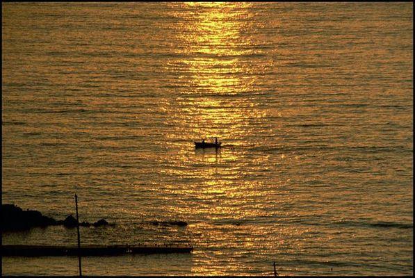 Sonnenuntergang in Sorrent