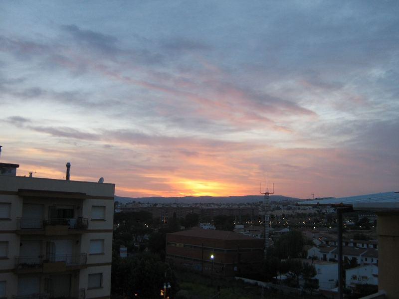 Sonnenuntergang in Spanien