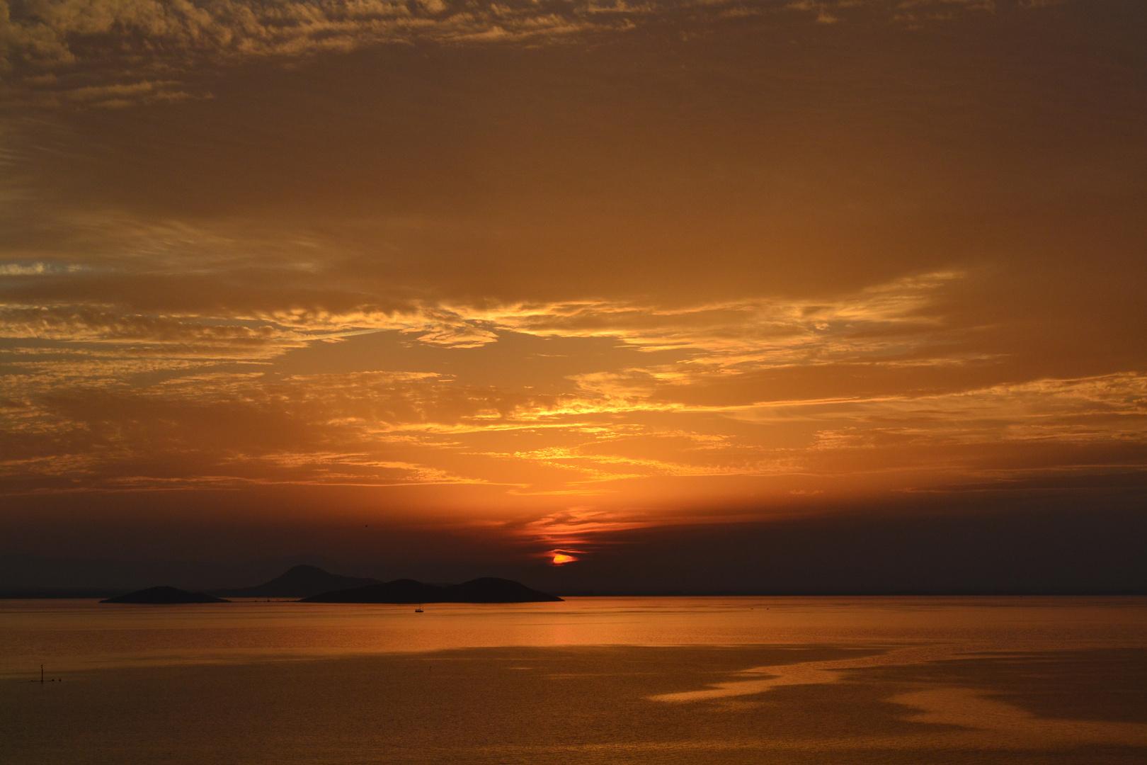 Sonnenuntergang in Spanien im Herbst