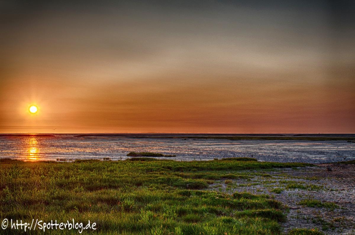 Sonnenuntergang in Spieka-Neufeld