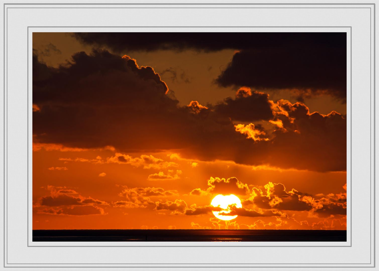 Sonnenuntergang in St. Peter-Ording (Böhler Strand)