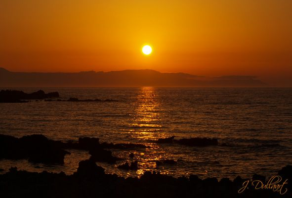 Sonnenuntergang in Stavros (West Kreta)