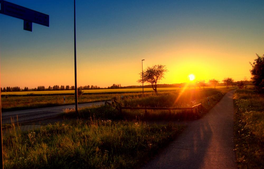 Sonnenuntergang in Steckelsdorf
