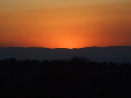 sonnenuntergang in suedafrika