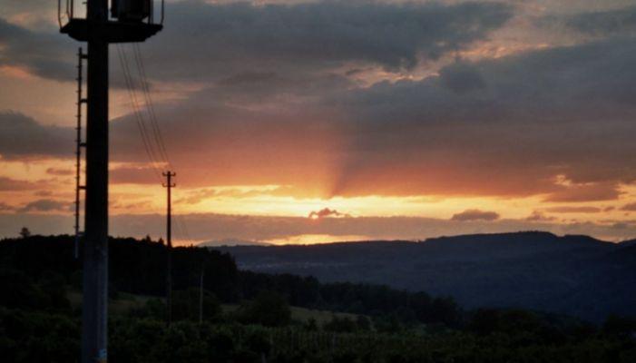 Sonnenuntergang in Südbaden