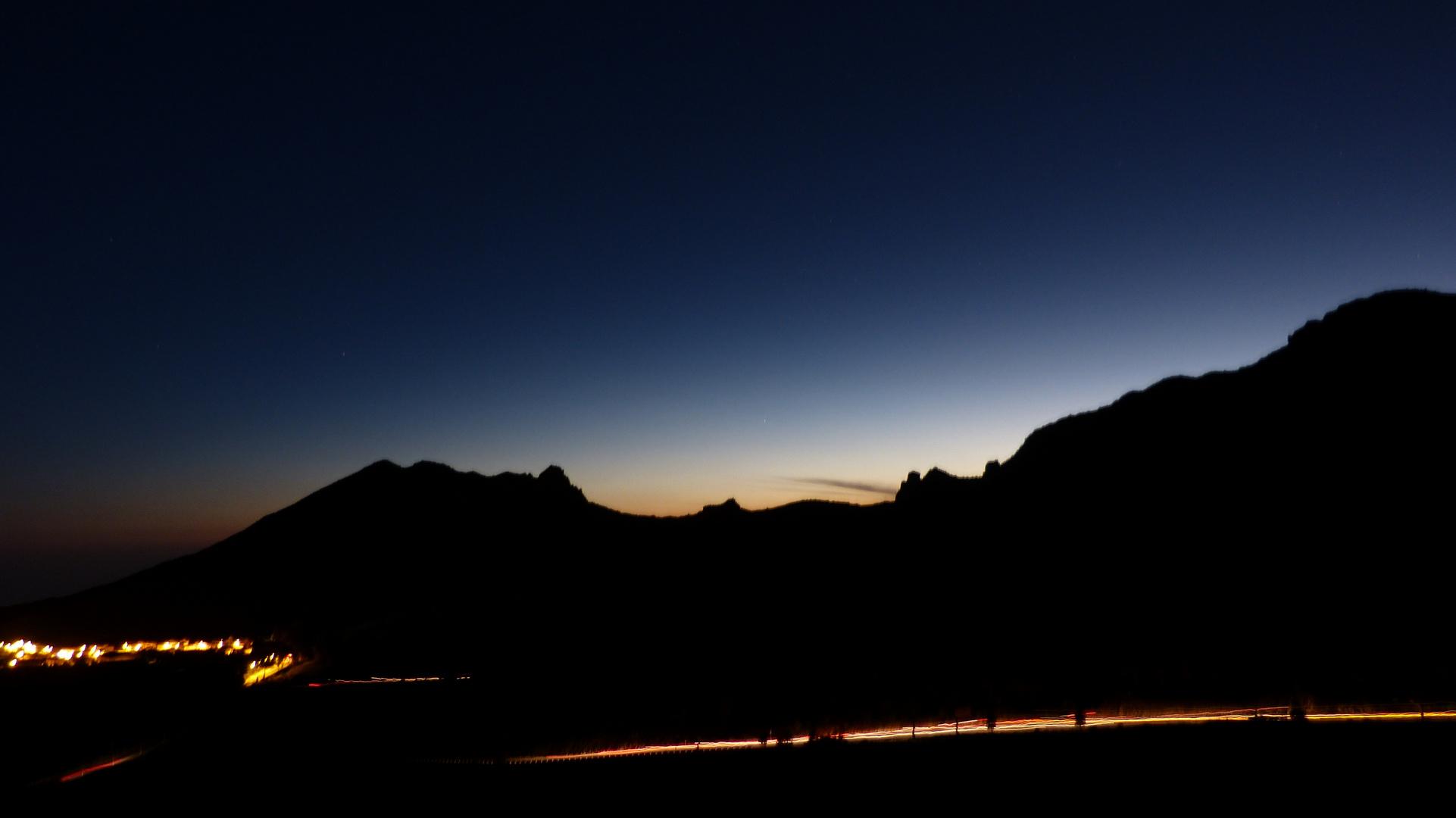 Sonnenuntergang in Teneriffa