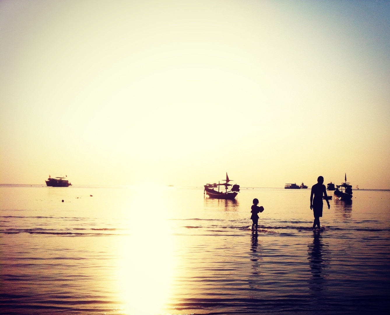Sonnenuntergang in Thailand Ko Tao