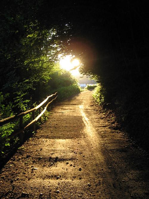 Sonnenuntergang in Theten