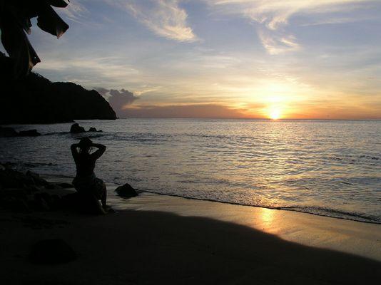 Sonnenuntergang in Tobago