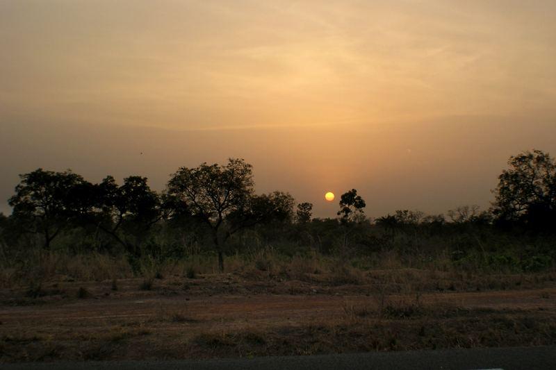 Sonnenuntergang in Togo