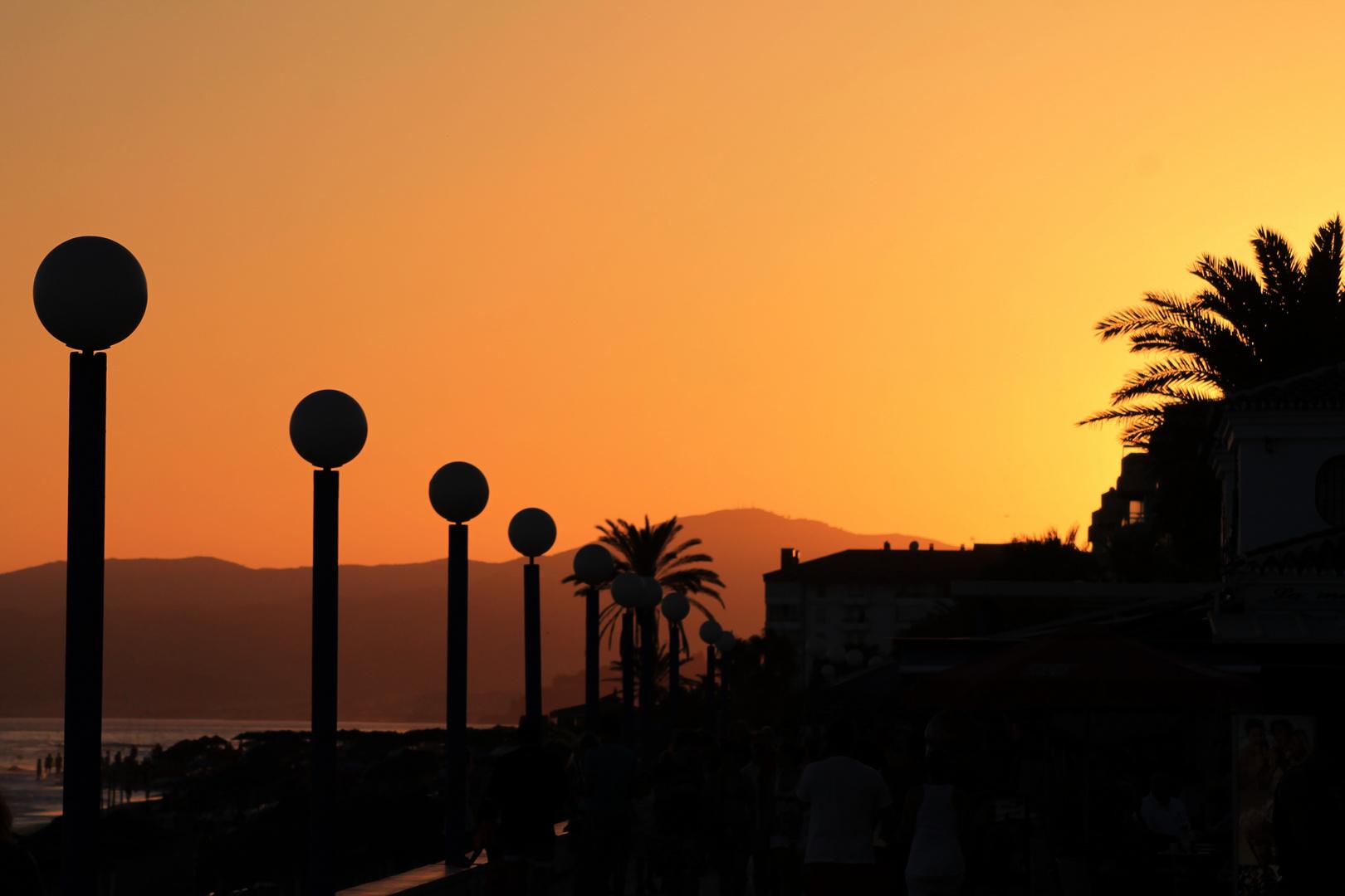 Sonnenuntergang in Torrox / Andalusien