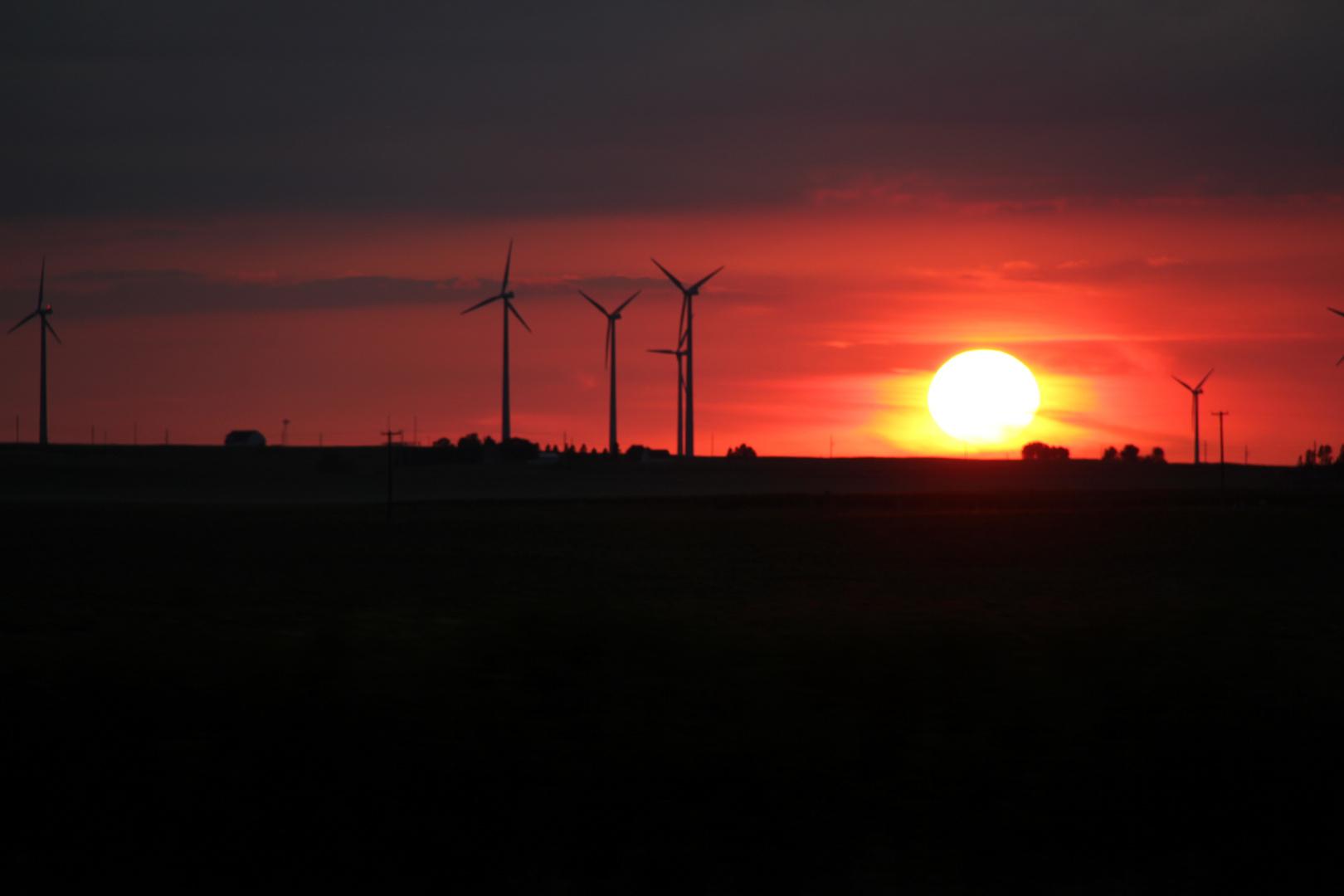 Sonnenuntergang in USA (Iowa)