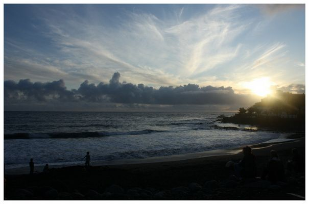 Sonnenuntergang in Vueltas auf La Gomera