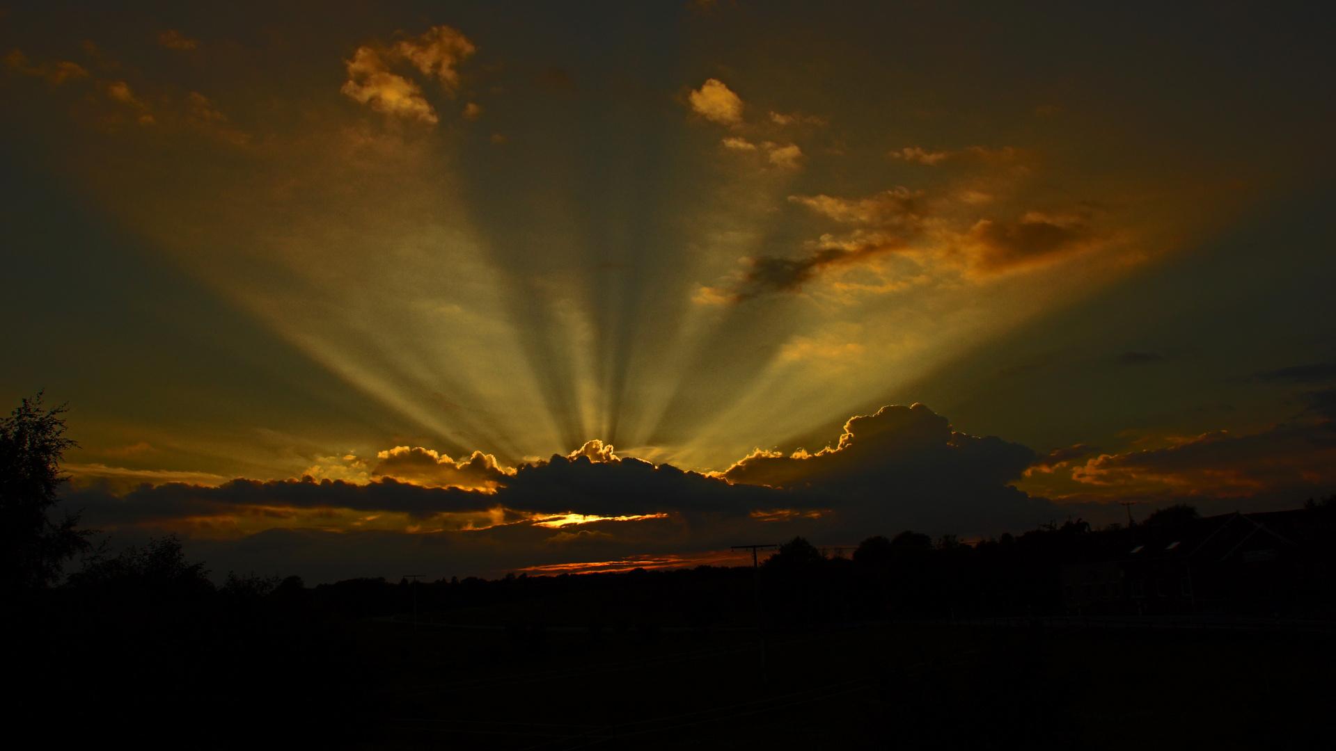 Sonnenuntergang in Wangels an der Ostsee 1