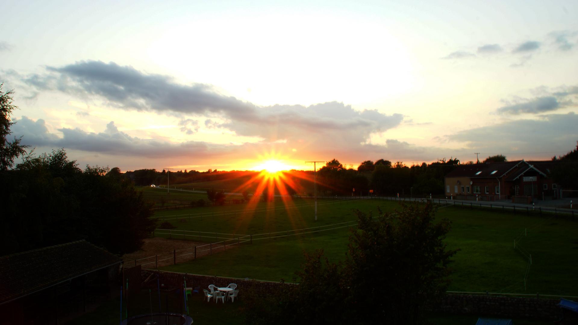 Sonnenuntergang in Wangels an der Ostsee 2