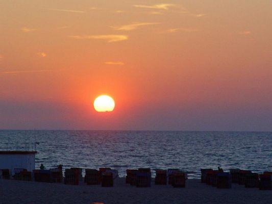 Sonnenuntergang in Warnemünde