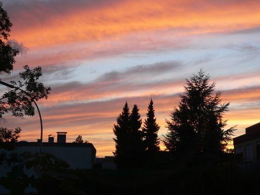 Sonnenuntergang in Weinstadt