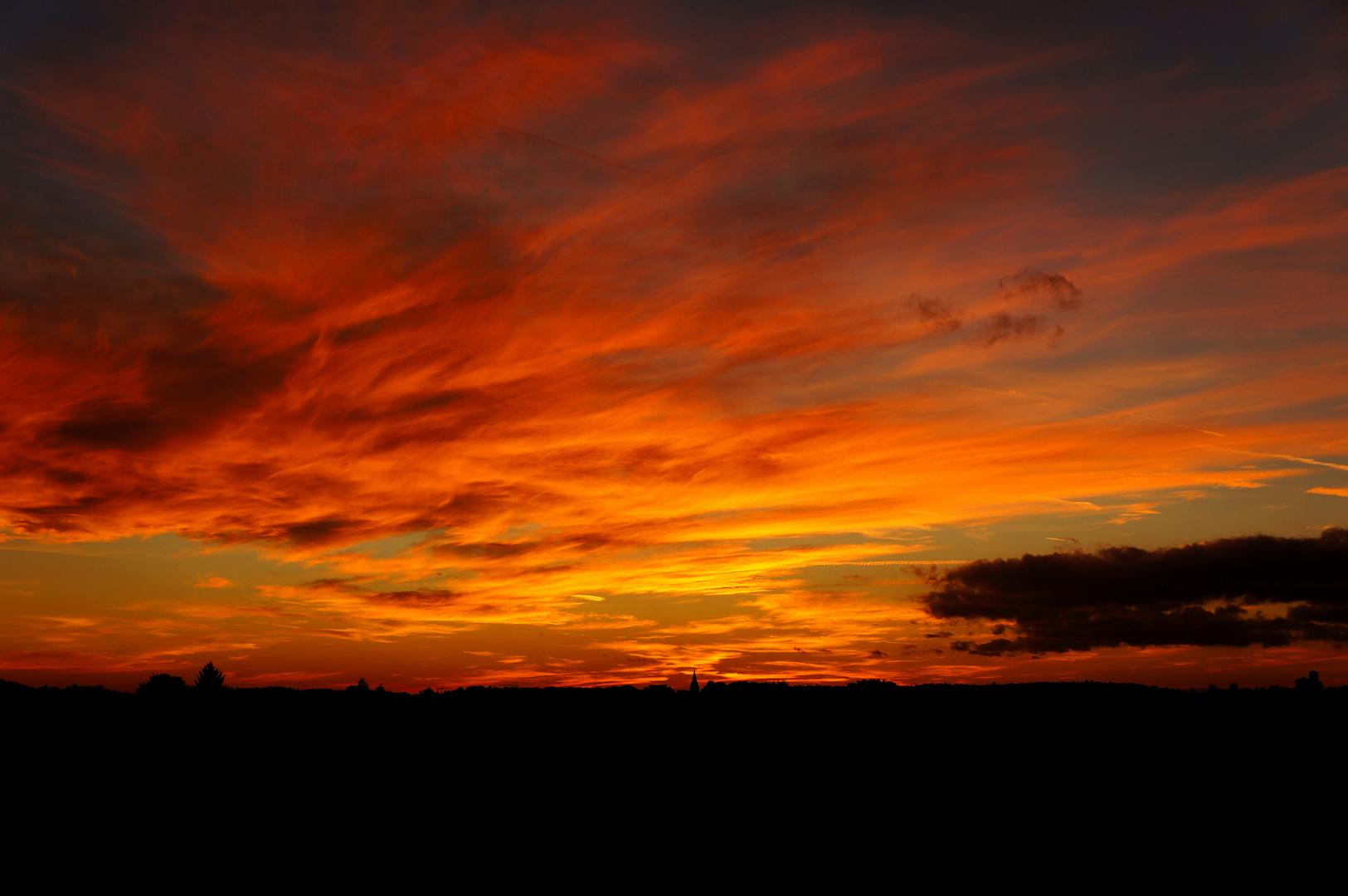 Sonnenuntergang in Welzheim