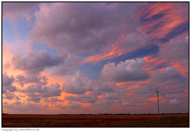 Sonnenuntergang in Westjütland