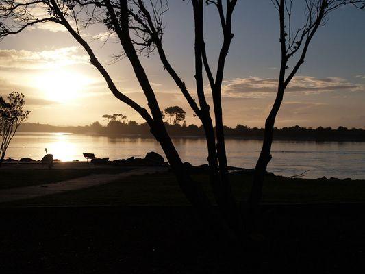 Sonnenuntergang in Whakatane