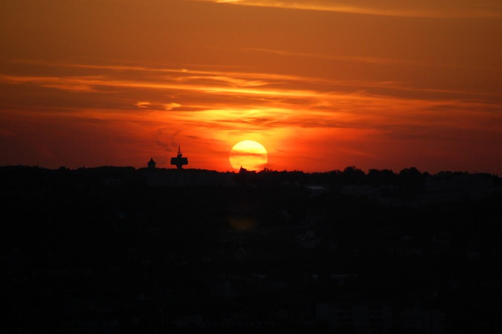 Sonnenuntergang in Wuppertal