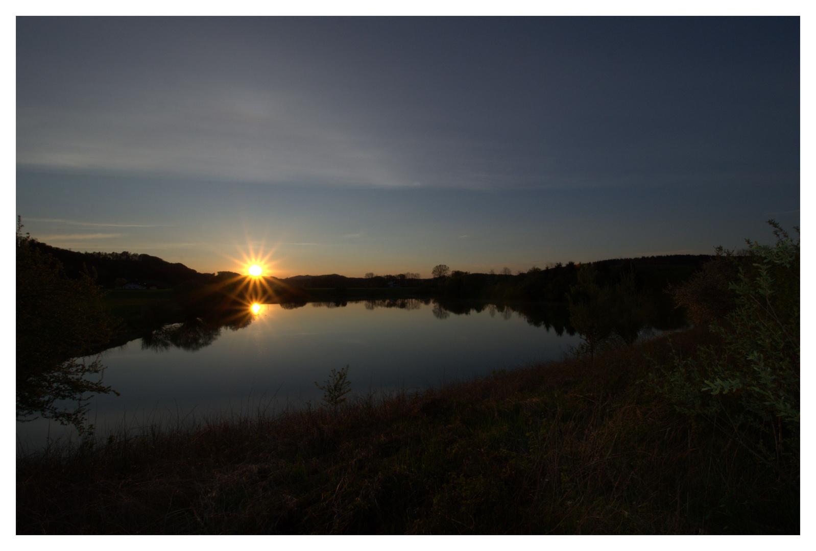 Sonnenuntergang in Zeiling 23.04.2013