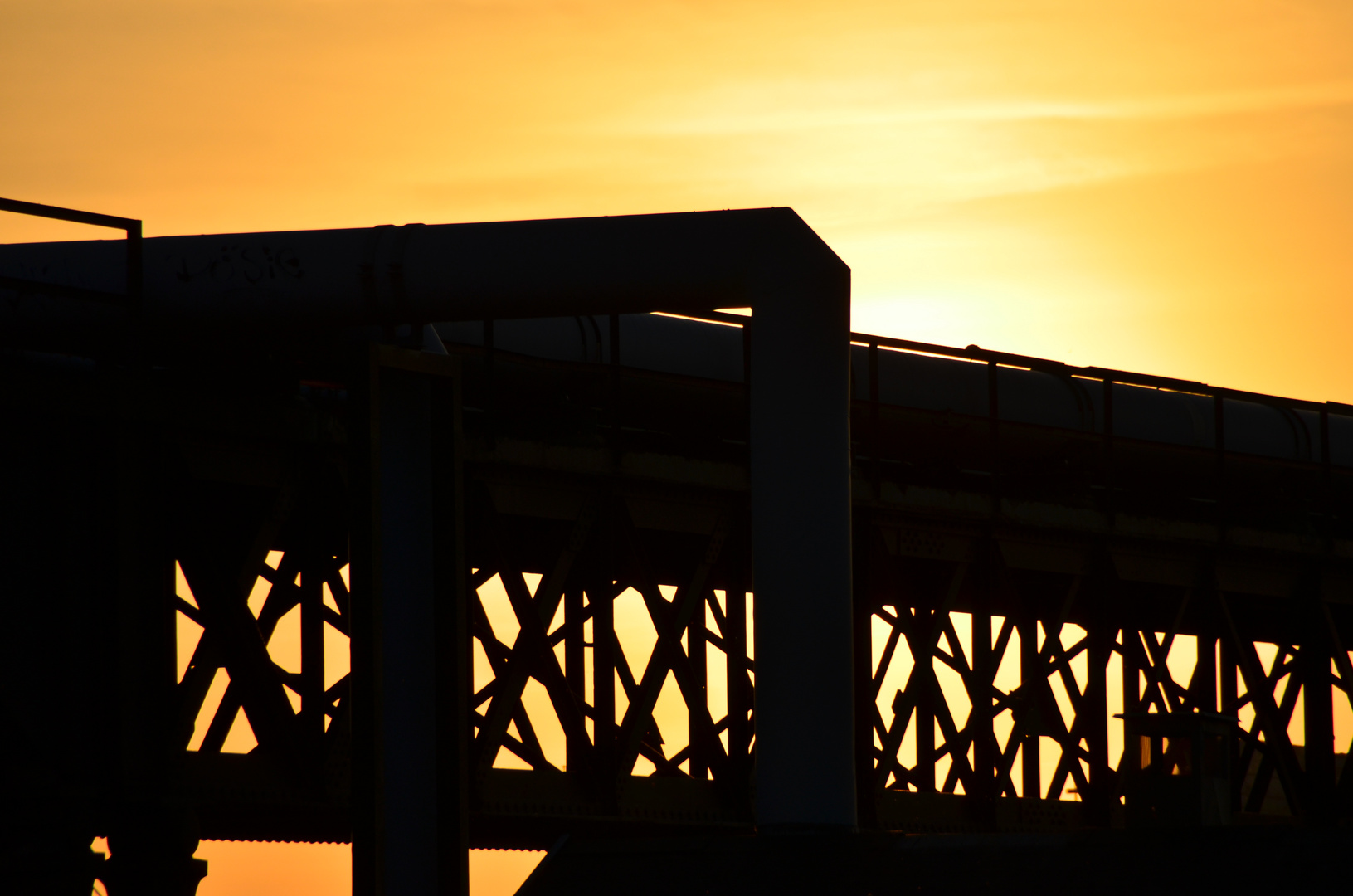 Sonnenuntergang Industriegebiet Kopenhagen