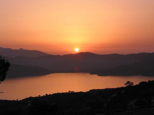 Sonnenuntergang Insel Elba Sommer 2003