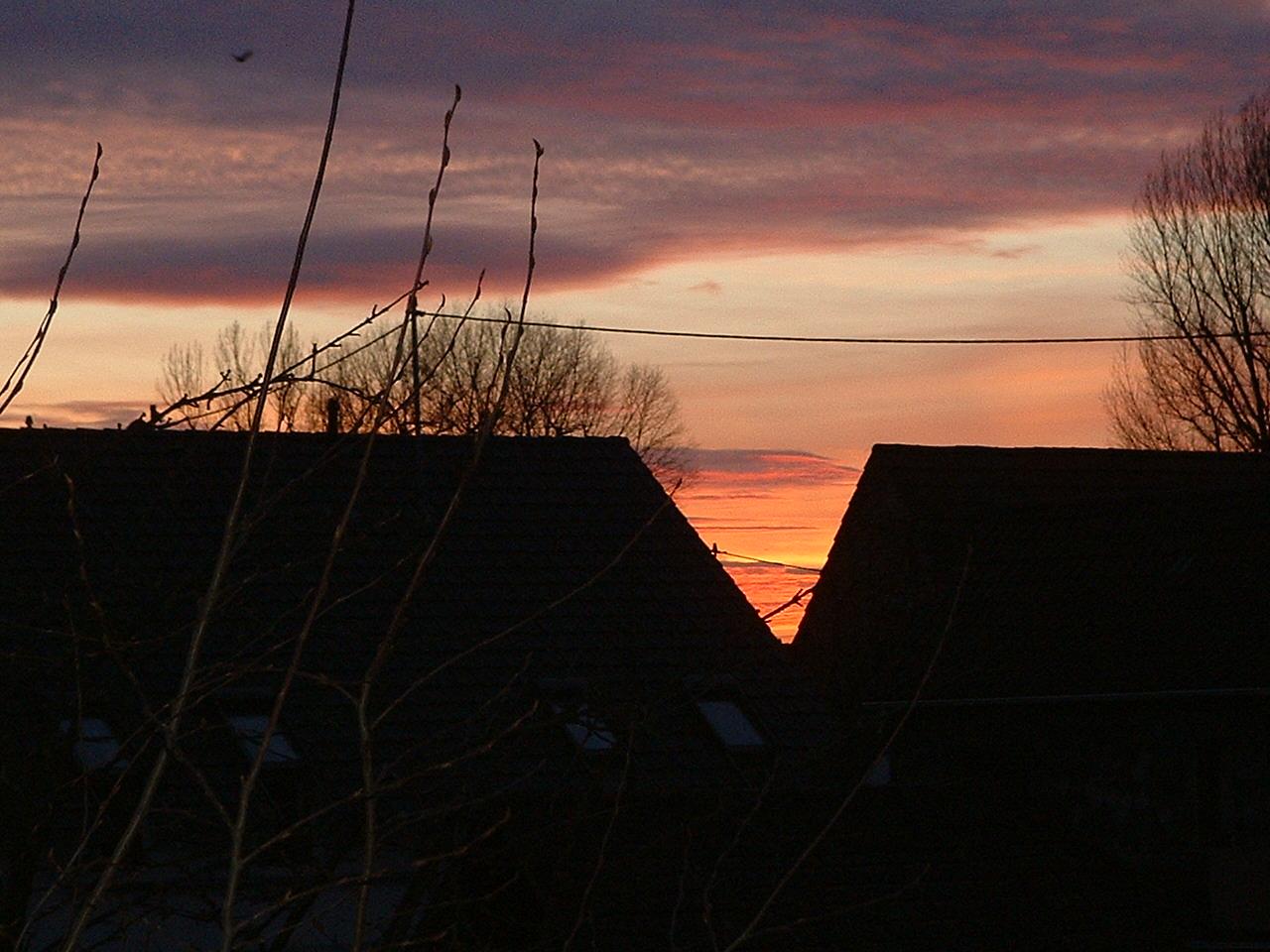 Sonnenuntergang Januar 2011
