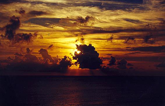 Sonnenuntergang Karibik