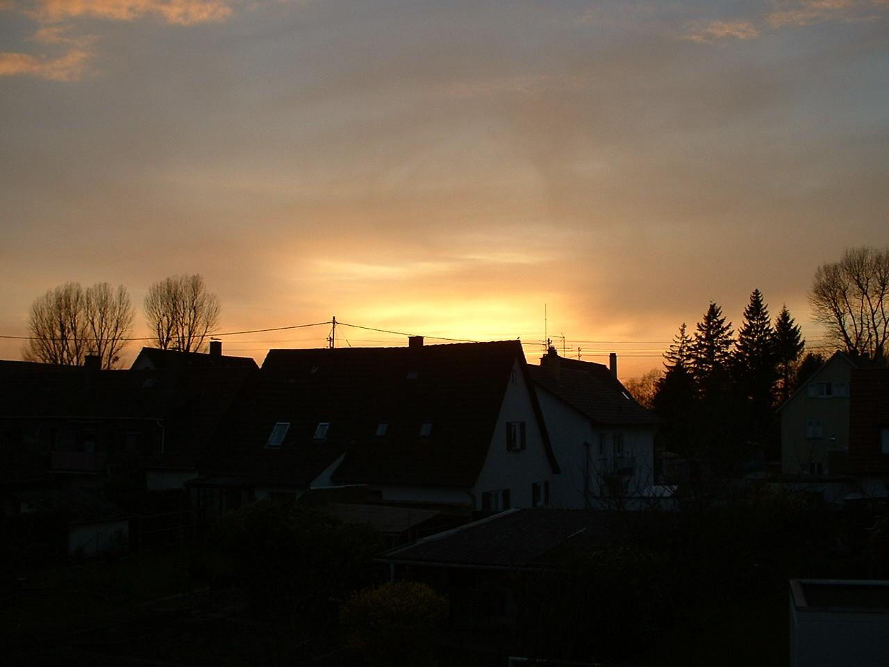 Sonnenuntergang Karlsruhe, 14.2.2011