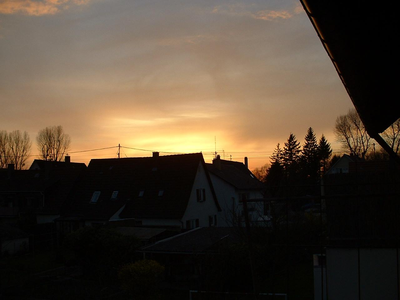 Sonnenuntergang Karlsruhe,