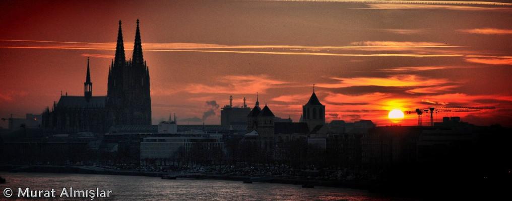 Sonnenuntergang: Köln